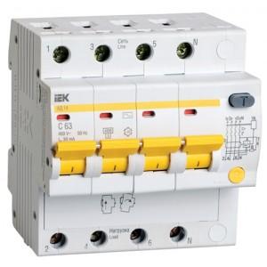 Дифференциальный автомат АД14 4Р 32А 100мА