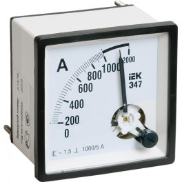 Амперметр Э47 300/5А 1,5 72х72мм