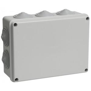 Коробка КМ41243 распаячная для о/п 190х140х70 мм IP44 (RAL7035, 10 гермовводов)