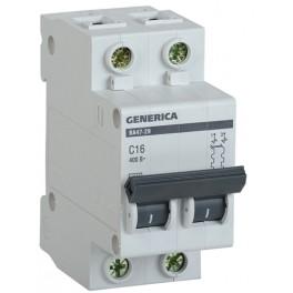 Автоматический выключатель ВА47-29 2Р 25А 4,5кА С GENERICA
