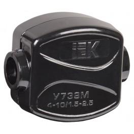 Зажим ответвительный У-739М (4-10/1,5-2,5 мм²) IP20
