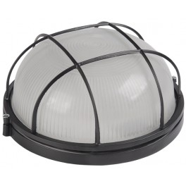 Светильник НПП1102 черный/круг с реш.100Вт IP54