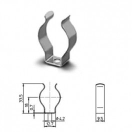 20400 056 / 37SVD STUCCI - Клипса 26мм для G13 5000шт/кор