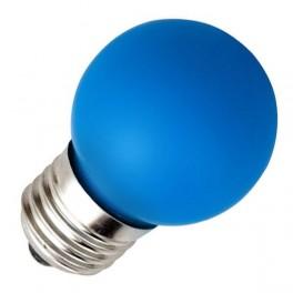 Лампа 12LED 24V B50 E27 BLUE 0,6W 25lm(LED шарик) FOTON