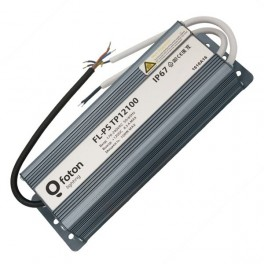 FL-PS TP12100 Pout=100Вт, Uout=12В, Uin=175-240В, IP67, 210x70x45mm, 1130г - метал. герм. транс-тор