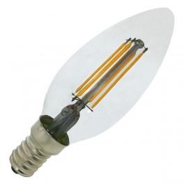 Лампа FL-LED Filament C35 4.4W E14 3000К 220V 440Лм 35*98мм FOTON_LIGHTING свеча прозрачная