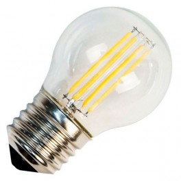 Лампа FL-LED Filament G45 6W E27 3000К 220V 600Лм 45*75мм FOTON_LIGHTING шарик прозрачная