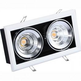 FL-LED Grille-111-2 60W 4000K 360*195*170мм 60Вт 4800Лм (светильник карданный светодиодный белый)