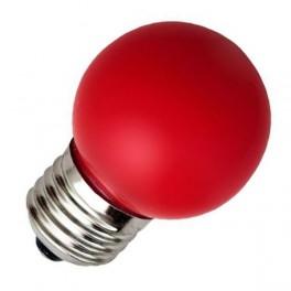Лампа FL-LED DECO-GL45 1W E27 RED 230V E27 красный (LED шарик) FOTON