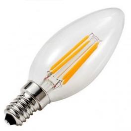 Лампа FL-LED Filament C35 7.5W E14 3000К 220V 750Лм 35*98мм FOTON_LIGHTING свеча прозрачная