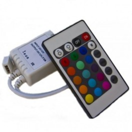 Controller RGB INFRARED IR24B IP20 12-24V 72W + ПДУ (без штекера питания) (S128)