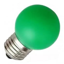 Лампа DECOR P40 LED12 230V E27 GREEN 0,6W 60lm (LED шарик) FOTON (S049) АКЦИЯ!