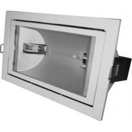 FL-2019 BOX 150W Rs7s White встройка 212x122 поворотный прозрач 225x135