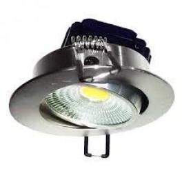 FL-LED Consta B 7W Aluminium 6400K хром 7Вт 560Лм (светильник встр. пов.)(S414) D=85мм d=68мм h=45мм