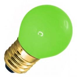 Лампа DECOR GL45 LED 0.6W GREEN 230V E27 зеленый (LED шарик) FOTON (S454)