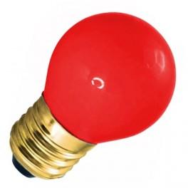 Лампа DECOR GL45 LED 0.6W RED 230V E27 красный (LED шарик) FOTON (S455)
