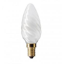 """Лампа GE 60TC1/FR/E14 230V (витая матовая свеча """"хрусталь"""")"""