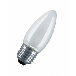 60C1/F/E27 60W лампа накал. свеча мат. GE Brest
