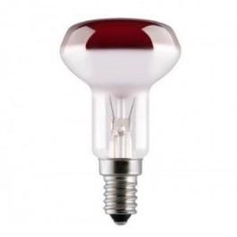 Лампа GE 40R50/R/E14 230V (зеркальная D50mm красная прозрачная)