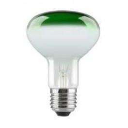 Лампа GE 60R80/G/E27 230V (зеркальная D80mm зелёная прозрачная)