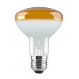 Лампа GE 60R80/Y/E27 230V (зеркальная D80mm жёлтая прозрачная)-СНЯТО БЕЗ ЗАМЕН