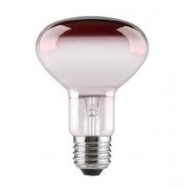 Лампа GE 60R80/R/E27 230V (зеркальная D80mm красная прозрачная)