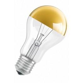 Лампа DECOR A GOLD 60W 230V E27 (стандарт золотой купол d=60 l=104)