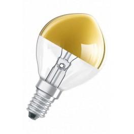 Лампа DECOR P GOLD 40W 230V E14 (шарик золотой купол d=45 l=80)