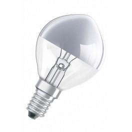 Лампа DECOR P SILVER 40W 230V E14 (шарик серебряный купол d=45 l=80)