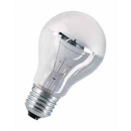Лампа DECOR A SILVER 60W 230V E27 (стандарт серебряный купол d=60 l=104)