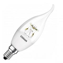 Лампа SST CLBA 40 6W/827 CL DIM 220-240V 470Lm E14 - LED свеча на ветру прозрачная OSRAM