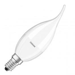 Лампа SS CLBA 40 5,4W/827 FR DIM 220-240V 470Lm E14 - LED свеча на ветру матовая OSRAM