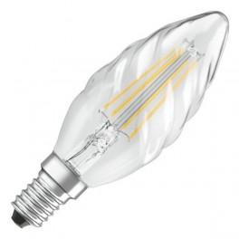 Лампа LED SCL BW40 4W/827 230V FIL E14 470lm прозрачная - свеча витая