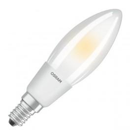 Лампа LED PCL B40D 4,5W/827 230V FR FIL E14 DIM 470lm FS1 OSRAM - свеча мат FILLED OSRAM