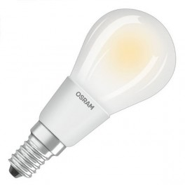 Лампа LED PCL P40D 4,5W/827 230V FR FIL E14 DIM 470lm FS1 OSRAM - шарик мат FILLED OSRAM
