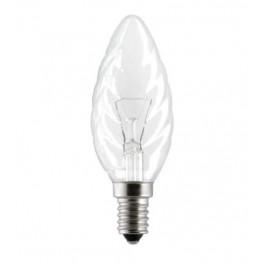 Лампа CLASSIC BW CL 40W 230V E27 (свеча витая прозрачная d=35 l=100)