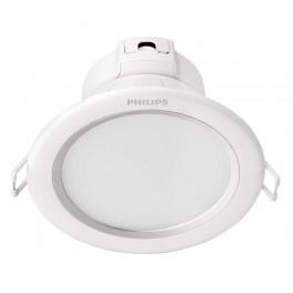 DOWNLIGHT, 8Вт, IP20, 2700K, белый+серебр, отв.d-125мм (кругл, встраив) - LED св-к PHILIPS