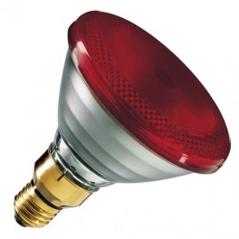 Лампа PHILIPS IR175R PAR38 E27 230V d121x136 RED красная