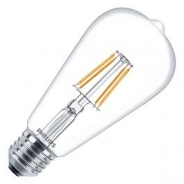 Лампа LED Fila 7.5-70W E27 WW ST64 ND 806lm (капля) - LED филамент PHILIPS