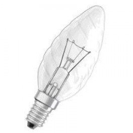 Лампа SYLVANIA TW Candle 40W 240V Cl E14 (свеча витая прозрачная)