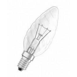 Лампа SYLVANIA TW Candle 60W 240V Cl E14 (свеча витая прозрачная)