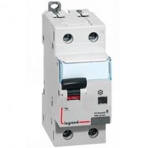 Выключатель авт. диф. тока 1п+N 2мод. C 10А 30мА тип AC 6/10кА DX3 Leg