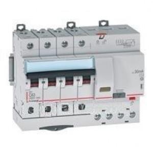 Выключатель авт. диф. тока 4п 7мод. C 63А 30мА тип AC 6/10кА DX3 Leg
