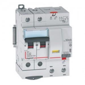 Выключатель авт. диф. тока 2п 4мод. C 16А 30мА тип AC 6/10кА DX3 Leg