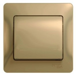 Выключатель 1-кл. СП Glossa сх. 1 10AX в сборе титан SchE