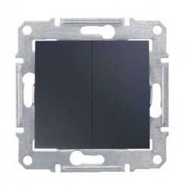 Выключатель 2-кл. СП Sedna cx.5 графит SchE