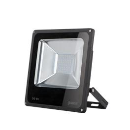 Прожектор светодиод. LED 50Вт IP65 6500К черн. Gauss