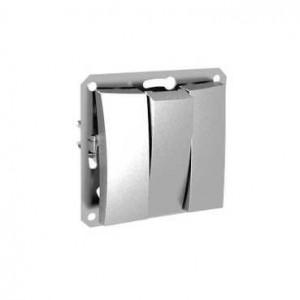 Механизм выключателя 3-кл. СП Дуэт 10А серебро SchE