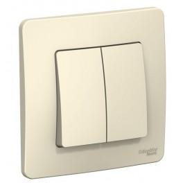 Выключатель 2-кл. СП BLANCA (сх.5) 10А 250В молоч. SchE