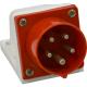 Вилка 515 16А 6h 380AC 3P+PE+N IP44 для монтажа на поверхность КЭАЗ